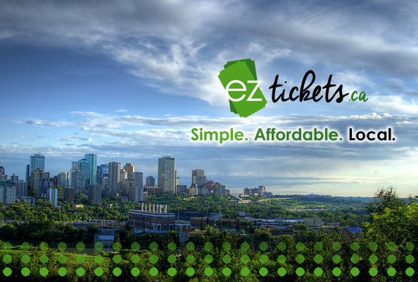 ezTickets over the Edmonton Skyline